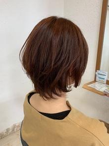 流行のオレンジカラー☆透け感レイヤー