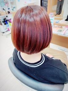 流行の髪色☆オレンジヘアで外国人風☆