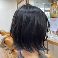 自然な黒髪